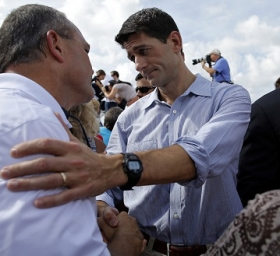 Republican vice-presidential candidate Paul Ryan.