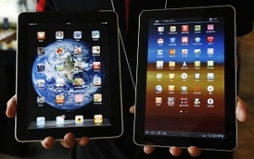 The Samsung Galaxy and Apple iPad tablets, currently at the heart of a high-profile -- and high cost -- infringement lawsuit.