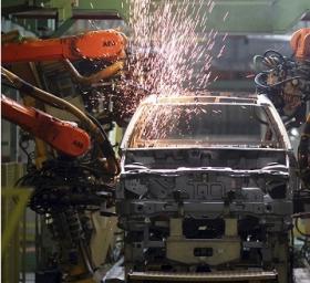 Robots go to work at the Ford Motor Company's Sao Bernardo do Campo facility in June, 2012.